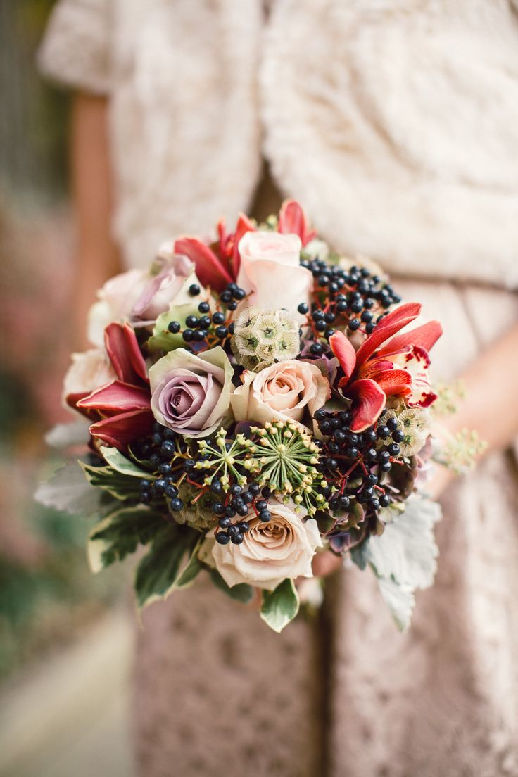 Bouquet || Fall Wedding || This elegant wedding is stunning! On Style Me Pretty: http://www.StyleMePretty.com/ohio-weddings/cleveland/2014/02/11/cleveland-city-hall-rotunda-wedding/ Lauren Gabrielle Photography