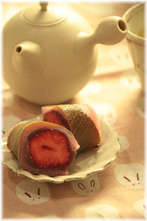 まん丸のいちご桜餅♡ おしゃれな桜餅の作り方