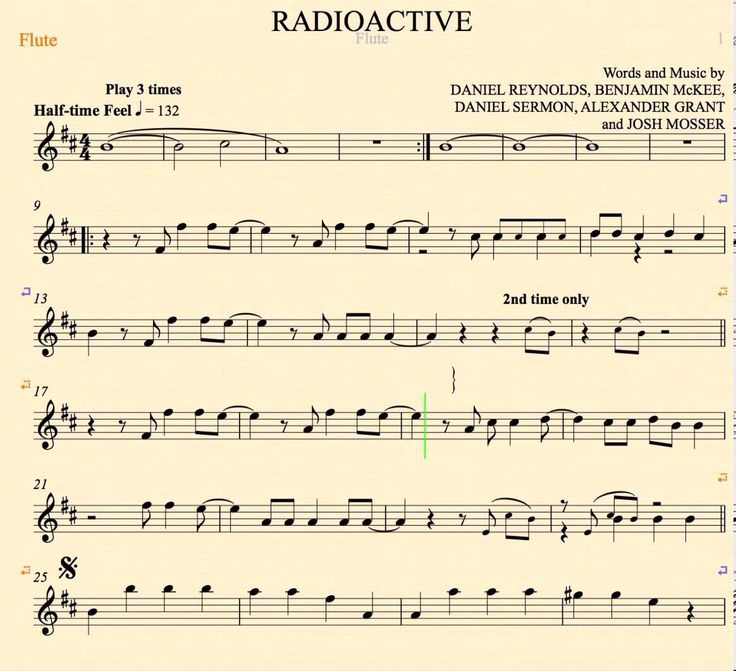 how to play radioactive on guitar notes
