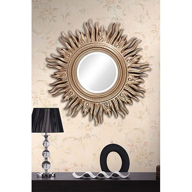 34 large decorative living room mirror gold sun shaped for Fancy mirrors for living room