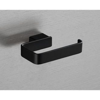 Toilet Paper Holder Square Matte Black Toilet Roll Holder 5424-M4 Gedy 5424-M4