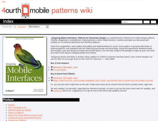 4ourth Mobile Design Pattern Library