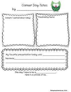 Printables Career Worksheets For Elementary Students 1000 images about career education on pinterest research report day friday freebie