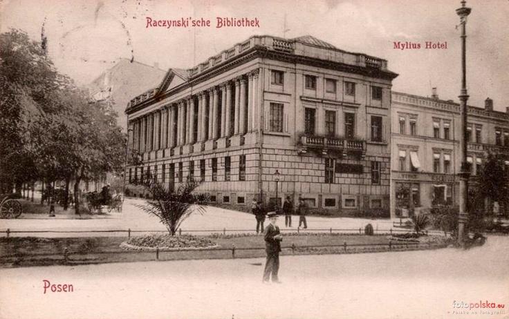 Poznan Poland, Biblioteka Raczyńskich początek XX w.