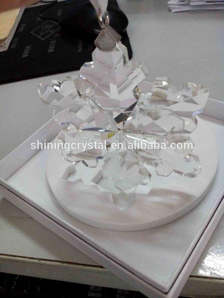 Кристалл снежинка для украшения рождественской елки подарок