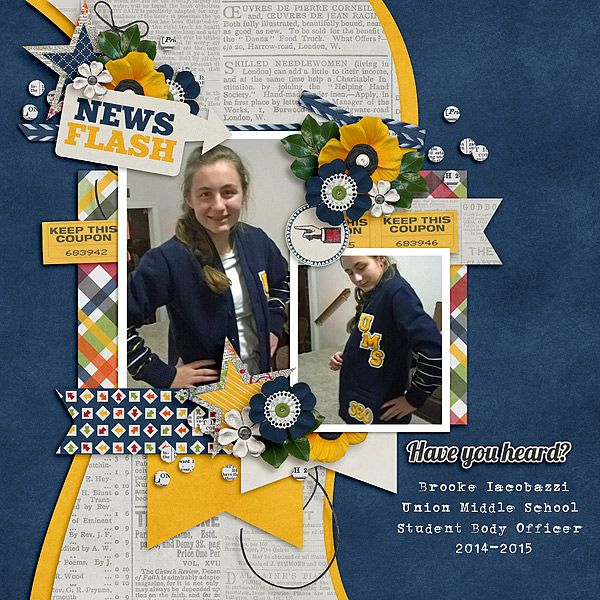 News Flash Kit: In Other News by Connie Prince Template: July 2016 Template Bundle By Connie Prince