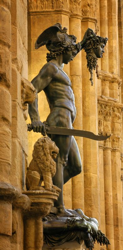 Italy. Florence. Piazza della Signoria. Perseus with the head of Medusa by Benvenuto Cellini