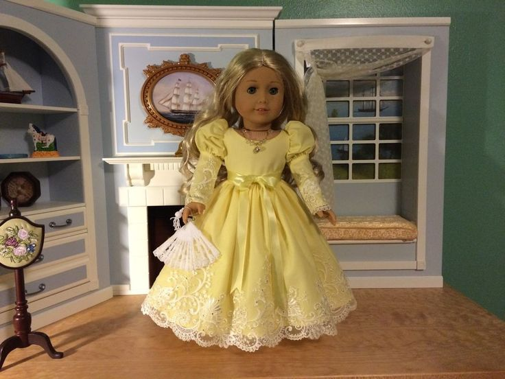 "VICTORIAN YELLOW DRESS & ACCESSORIES FITS 18"" AMERICAN GIRL, CAROLINE, CECILE #ClothingShoes"