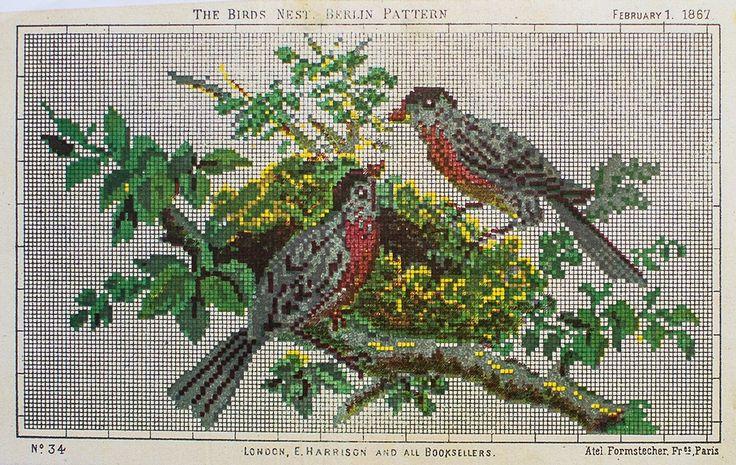 Гнездо Птицы - Берлин Pattern - 1867