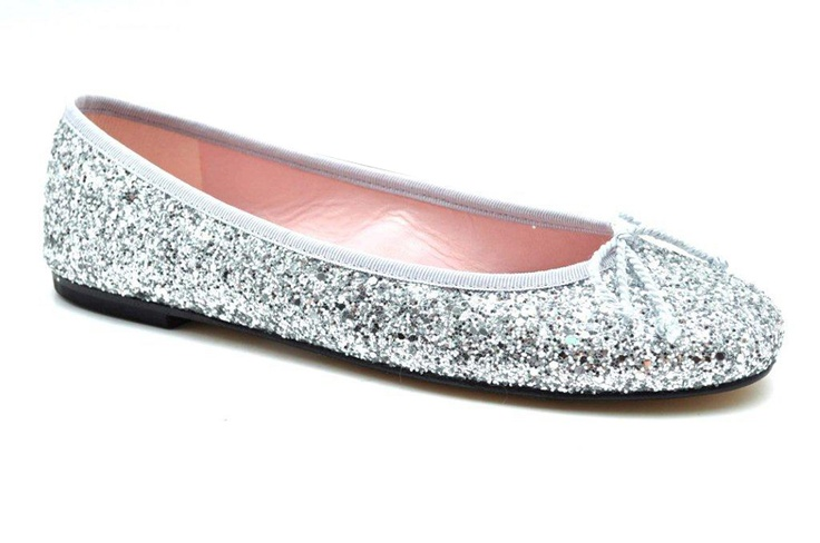 """""""Pretty Ballerinas"""" Silver Sequin  ear this under your wedding dress, on the beach, with jeans in the city ....."""