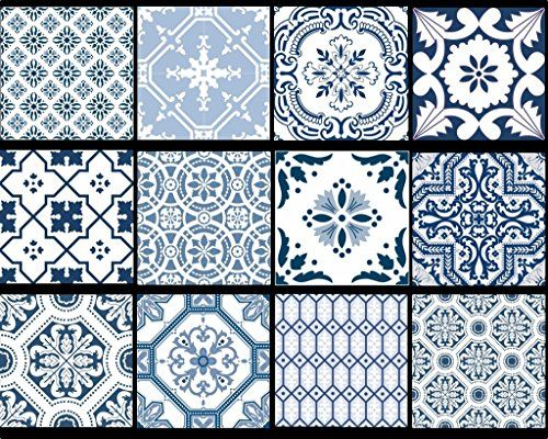 SnazzyDecal Wall Tile Decal Stickers Portugal Mix 4x4in Peel and Stick for kitchen or bath Pmix5-4 24pcs SnazzyDecal http://www.amazon.com/dp/B014FJFGG4/ref=cm_sw_r_pi_dp_vR5pwb0HK8MXQ