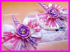 Moño UNICORNIO/ UNICORN BOW/LAZO SENCILLO/ LISTON KORKER/CREACIONES - YouTube