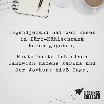 Visual Statements Irgendjemand Hat Dem Essen Im Buro Kuhlschrank