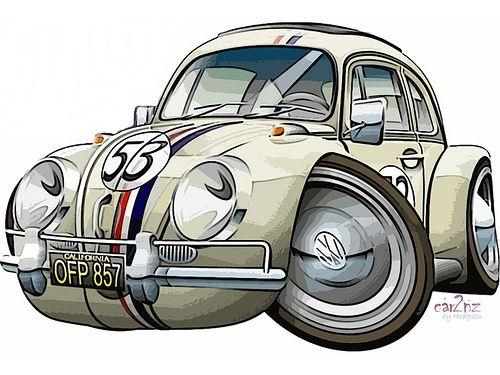 Auto Art | Volkswagen | Pinterest | Beetles, Vw beetles and Cartoon