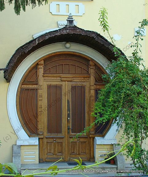 Art Nouveau style round frame doorway, Bucharest This is interesting, it makes me think of hobbits! :)