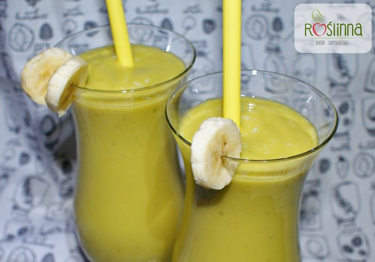 Roślinna - blog wegański: Kremowy koktajl pomarańczowo-bananowy