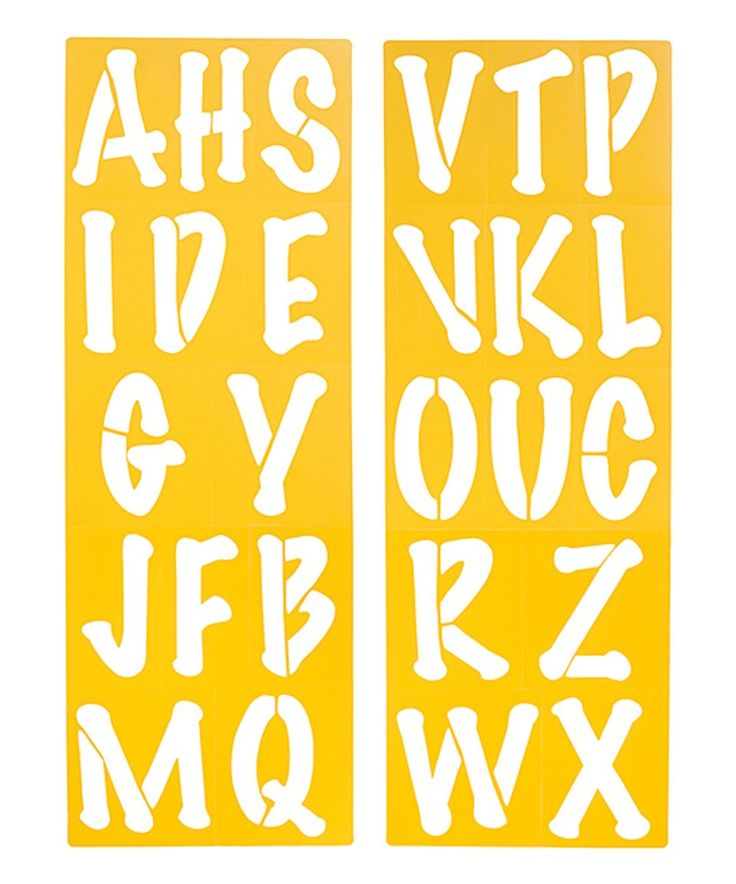Take a look at this 3.25'' Bubble Alphabet Stencil Set today!