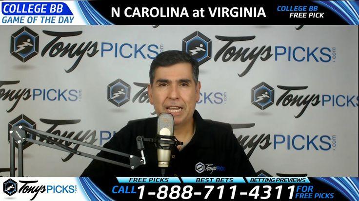 North Carolina Tar Heels vs. Virginia Cavaliers Free NCAA Basketball Pic...