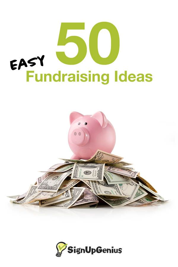 50 easy fundraising ideas to raise more money for your school, nonprofit, sports team or group.