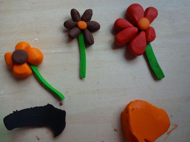 Plasticine flowers