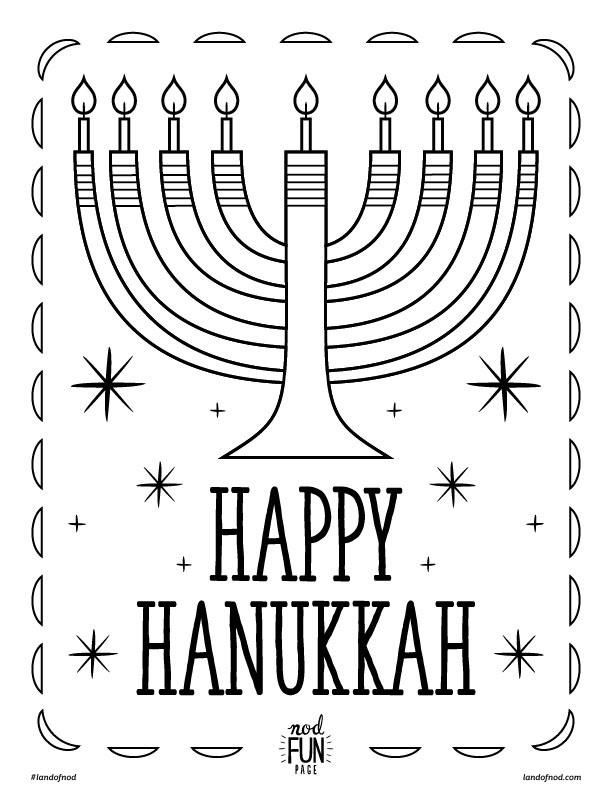 hannukah printable coloring page - Hanukkah Printable Coloring Pages