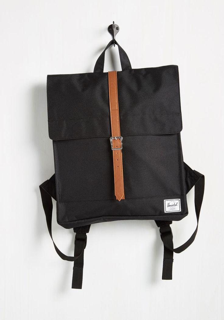 Square Backpack in Black