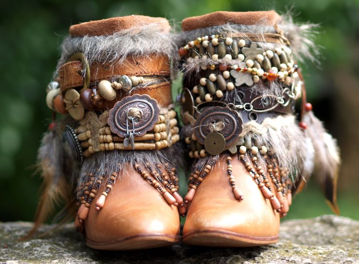 beaded boho boots from TheLookFactory on Etsy