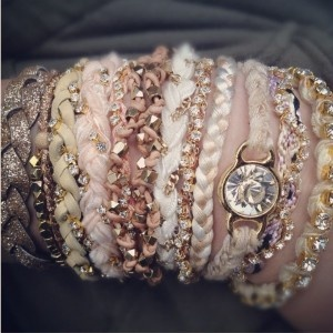 A set of stackable braclets in more than one metal to make them more versatile. Pick something that suits your style, be it ethnic inspired, classic, chunky, sparkly etc. Ettika Stackable Bracelets, Made in LA