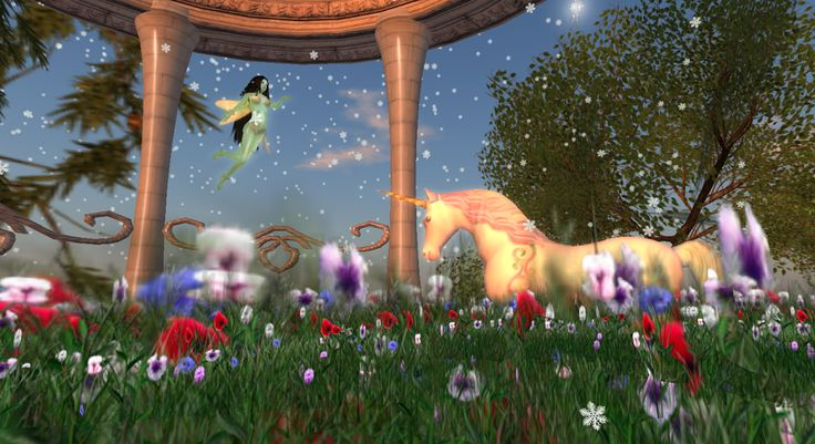 #Fairy and #unicorn #Second Life