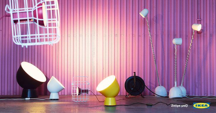 Φωτίστε απαλά και όμορφα κάθε γωνία του χώρου σας με πολύχρωμα φωτιστικά, που μετακινούνται εύκολα. #IKEA #IKEAGreece #IKEAPS2017 #zoumemazi