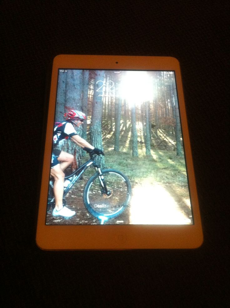 Me encanta la foto de mi iPad ... Me encanta esta foto en mi bici
