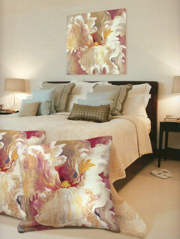 Simon Bull art tapestry wall-hangings - Smallest of Dreams is a Belgian wall tapestry in gorgeous pastel tones.
