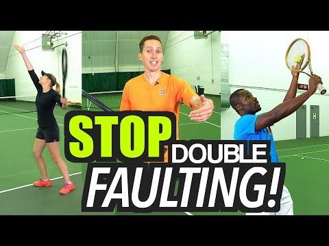 How to STOP Double Faulting! - tennis serve lesson - YouTube