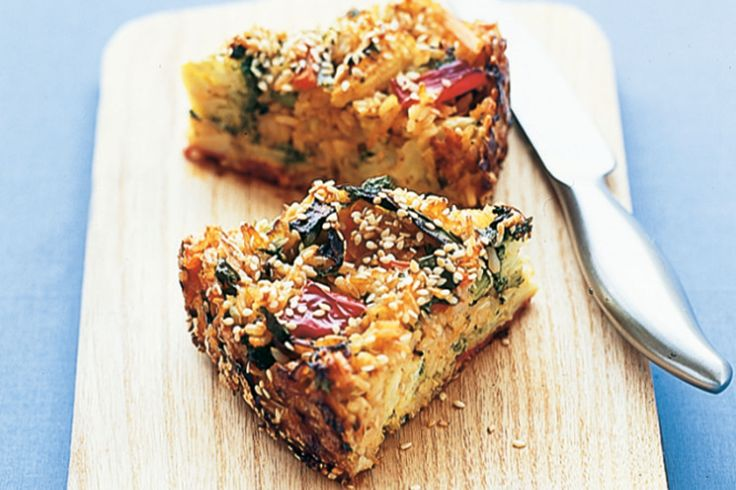 Plate up a sensational side dish with this fast and creative rice and vegetable pie.