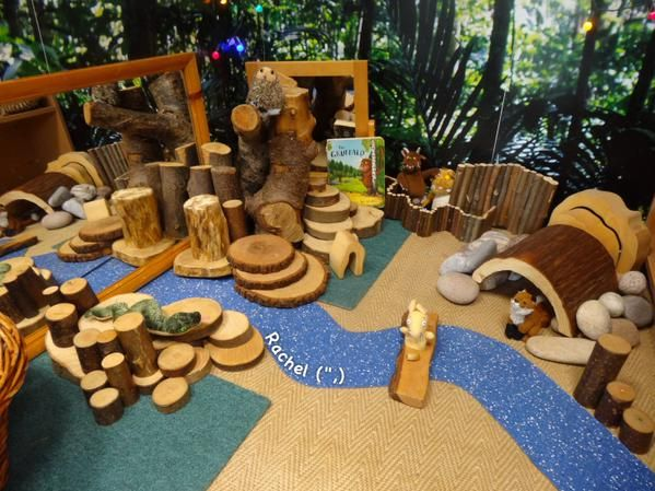 Resources to stimulate role play based on the story of The Gruffalo.