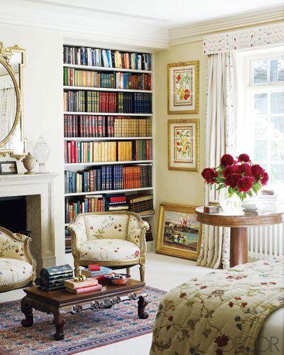 lovely: Bookshelves, Elle Decor, Built In, Kits Kemp, Book Shelves, Decor Bedroom, London Townhouse, Window Treatments, Bedrooms Ideas