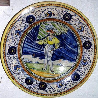 """piatto di ceramica artistica 50cm ANTICA RIPRODUZIONE DI MAIOLICA """"CERAMICA ANTICA"""""""