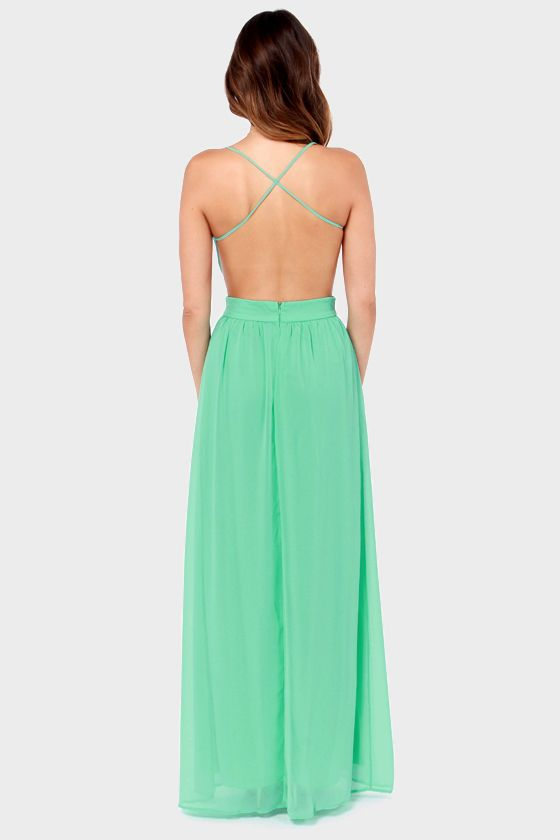 LULUS Exclusive Rooftop Garden Backless Mint Green Maxi Dress at LuLus.com! 49