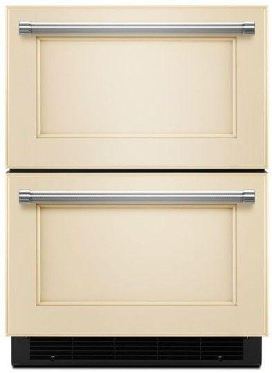 "KUDF204EPA KitchenAid 24"" Refrigerator / Freezer Drawer with Automatic Icemaker - Custom Panel"
