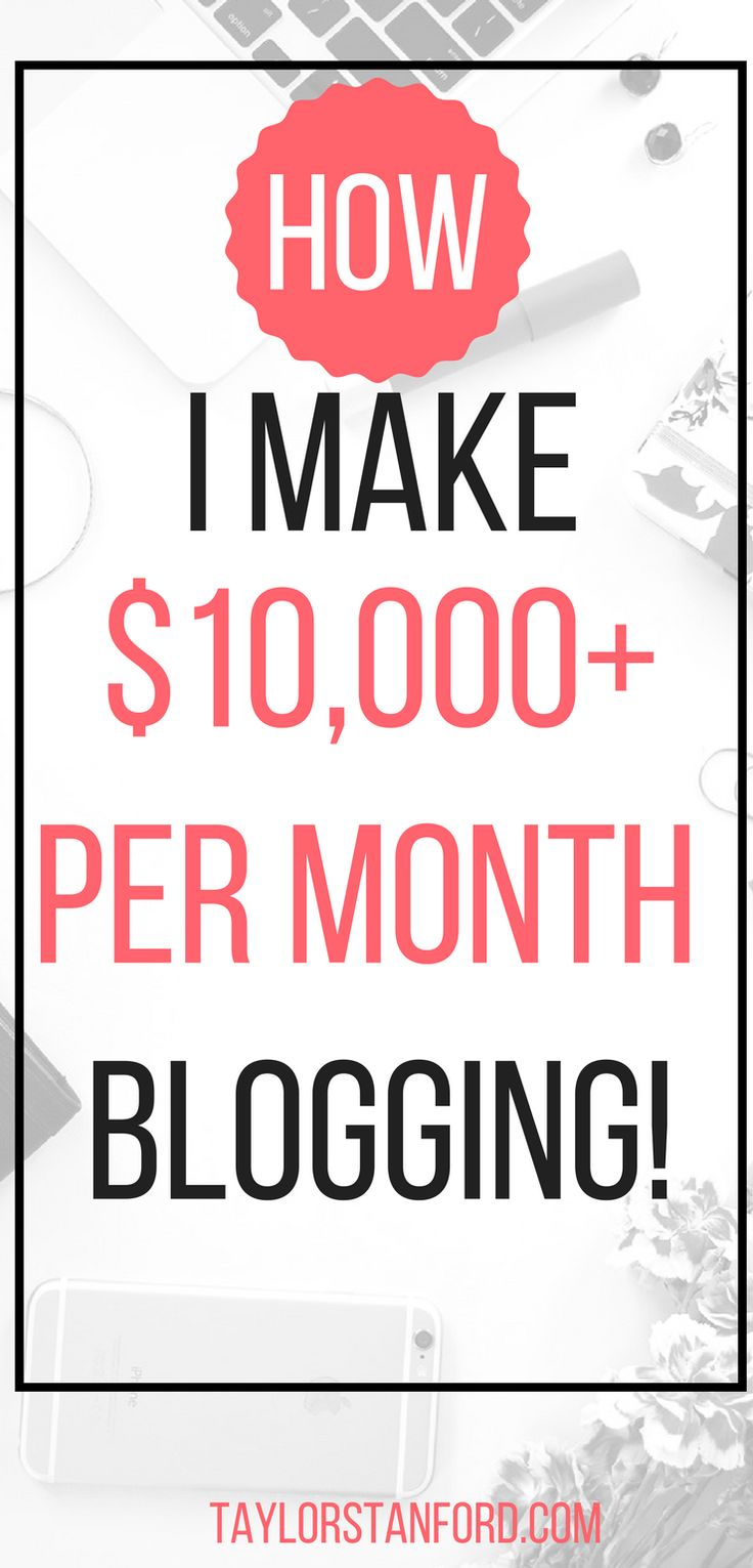 How to make money from home with a blog. The keys to earning a lot of money from home with a blog. #bloggingtips #makemoneyonline #incomereports