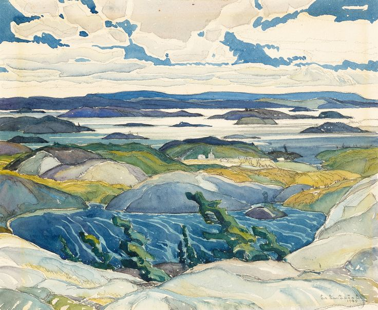 Franklin Carmichael - The Bay of Islands 10.75 x 13 Watercolour (1929)