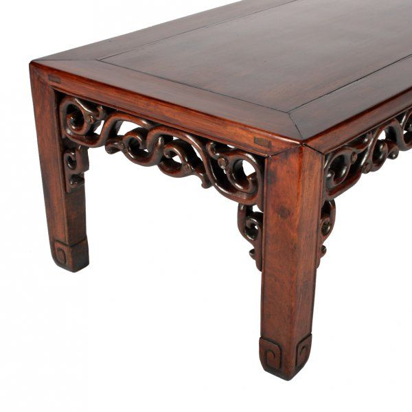 Chinese Relief Coffee Table: Chinese Rosewood 'Opium' Table