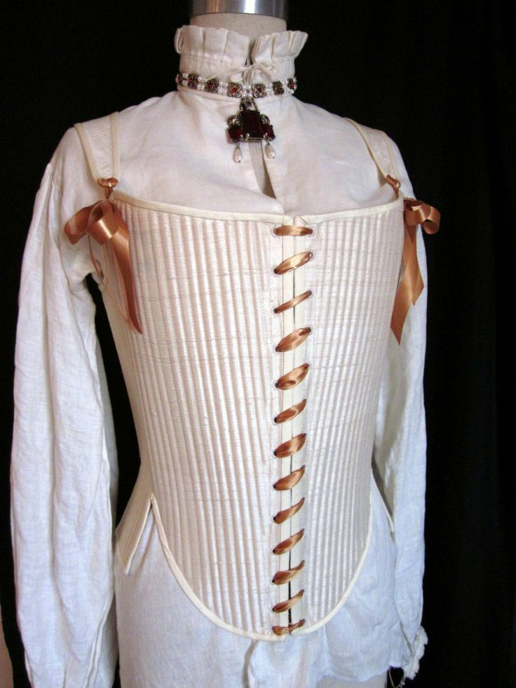 Elizabethan Effigy Corset Stays in Silk reed boned by redthreaded, $390.00