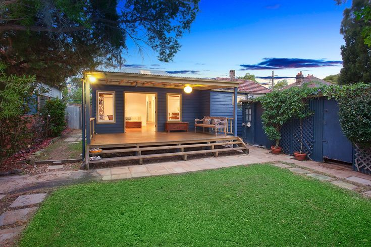 Character home on two titles with sunny garden, dusk photography, 260 Elswick Street, Leichhardt, Pilcher Residential