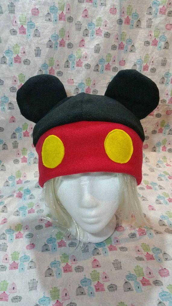 Hecho a mano Mickey Mouse inspirado en sombrero del paño