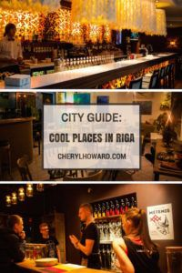 A mini-guide to Riga, spotlighting seven cool places in Riga, from third wave coffee shops, to trendy bars, and a hip and stylish hotel.