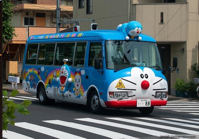 Kyaaaa!!! Doraemon bus !! / lemonet #japan