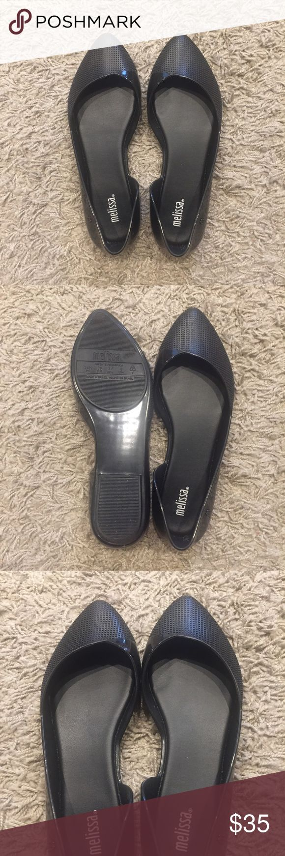 💥Melissa flats 💥 Black melissa flats. Worn once for a few hours. Almost brand new Melissa Shoes Flats & Loafers