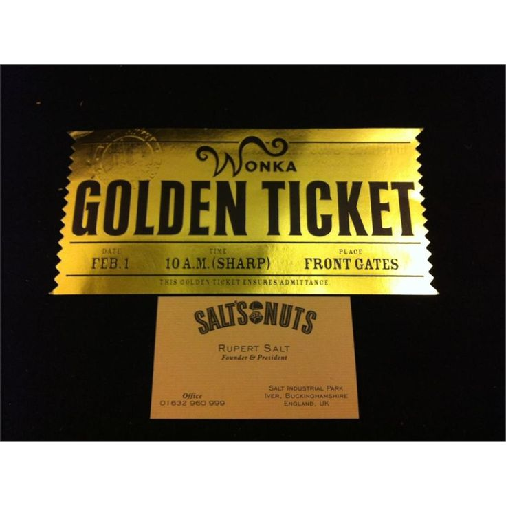 Wonka Bar Golden Ticket Ebay Factory golden wonka bar ...