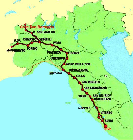 Pellegrinaggio lungo la Via Francigena e il cammino di Compostella; un cammino spirituale